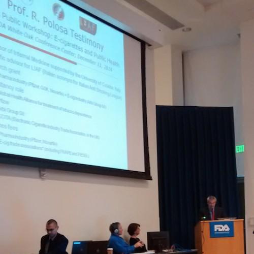 L'intervento del prof. Riccardo Polosa all'FDA statunitense per una migliore regolamentazione delle e-cig
