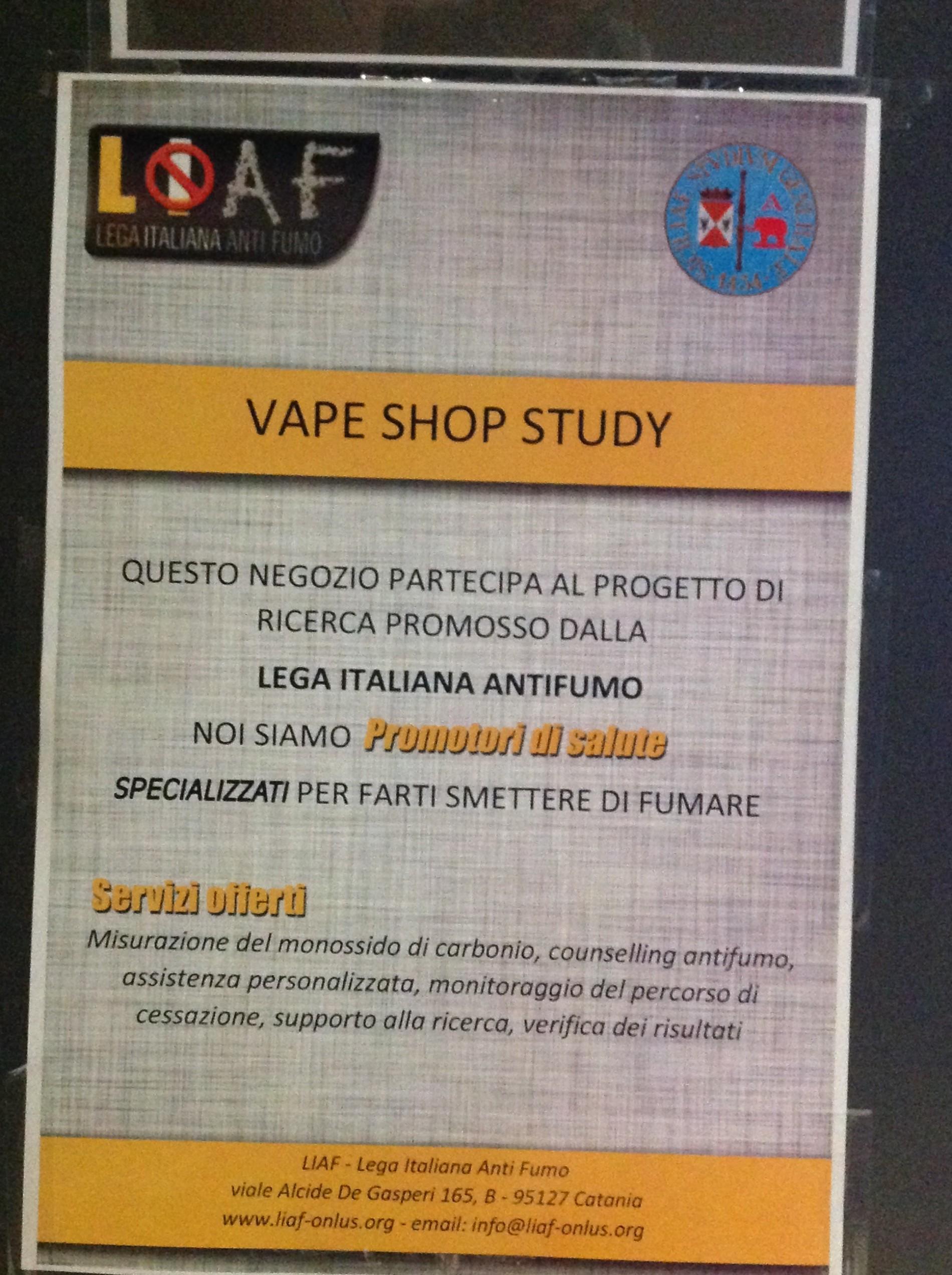 Vape Shop Study – Milano 10 Maggio 2015