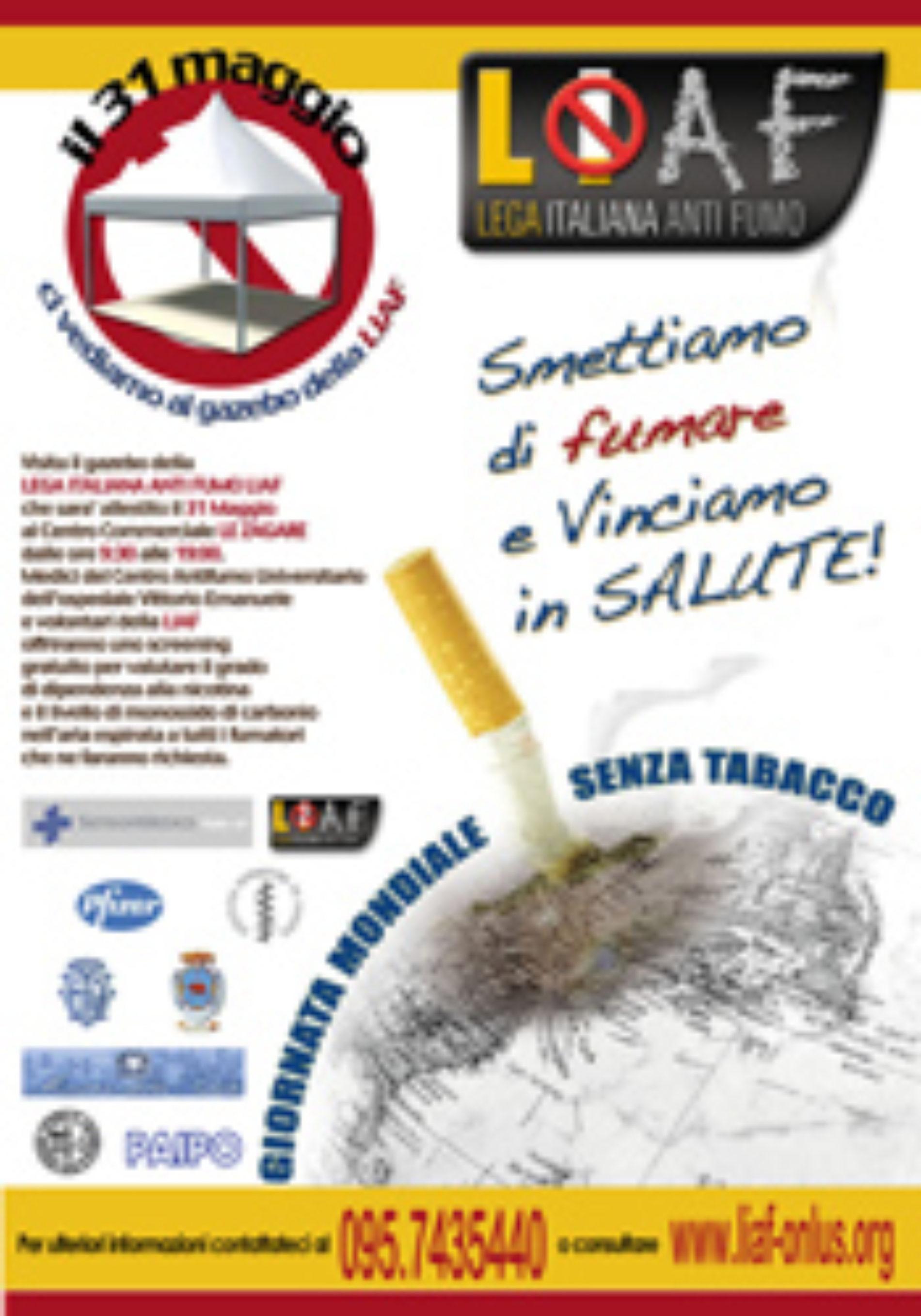 31 maggio 2008: Giornata mondiale senza tabacco a Catania