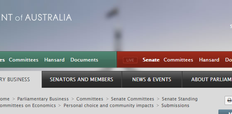 Il commento del Prof. Polosa già agli atti del Parlamento australiano