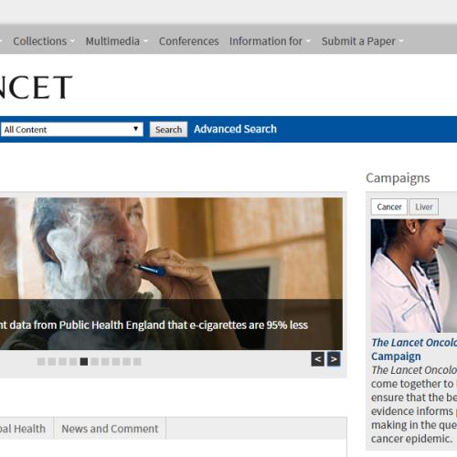 The Lancet: pubblicata, dopo 7 mesi, la contestazione degli scienziati pro-ecig