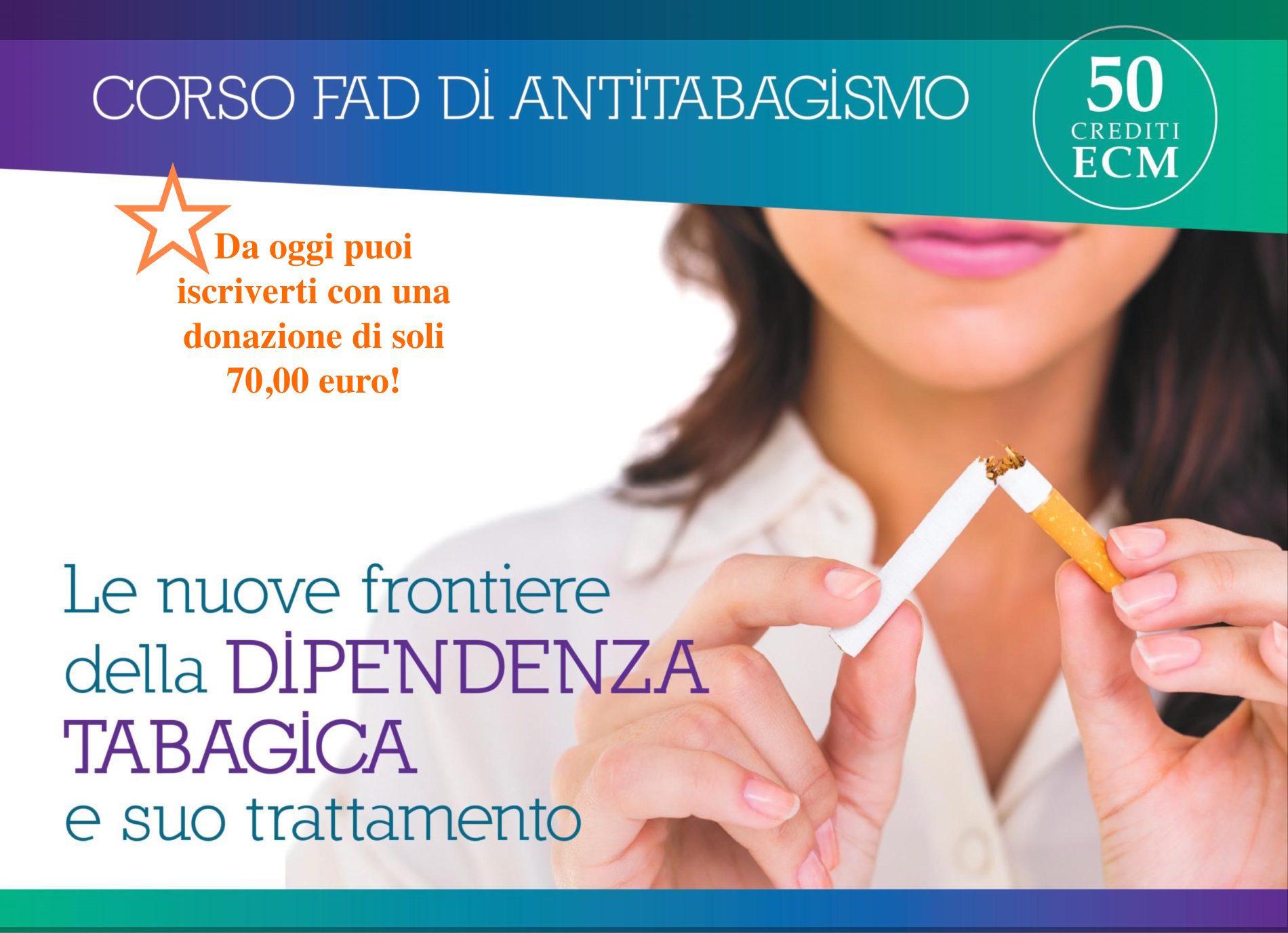 Ecco il primo corso FAD antitabagismo di LIAF. Per gli operatori sanitari vale 50 crediti ECM