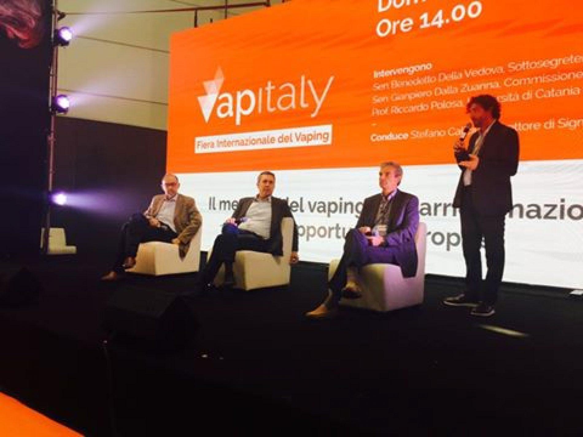 Primo giorno di TPD anche in Italia. Riccardo Polosa a Vapitaly fa il punto con Della Vedova