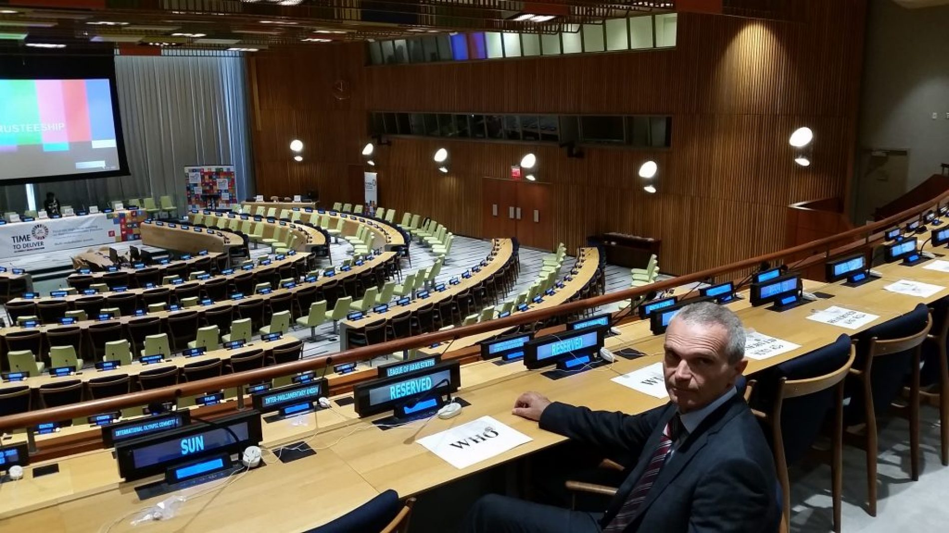 Riccardo Polosa at the United Nations General Assembly