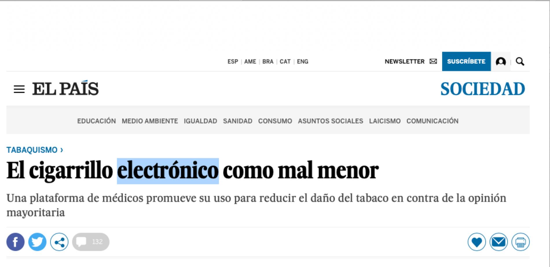 In Spagna una piattaforma con i medici per la Riduzione del danno da fumo