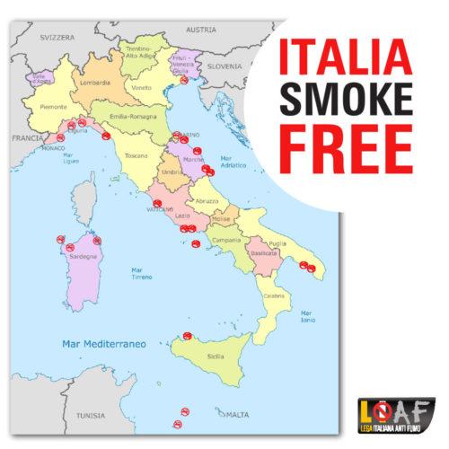 Italia, la penisola delle spiagge smoke free